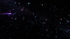 Sky with shooting colorful stars. Loopable. Stock Footage