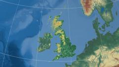 North West - region of the United Kingdom extruded. Set Stock Footage