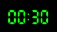 Digital clock with 12 hours, you can choose any hour or minute. Loopable. - stock footage