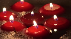 Candles Light With Foam Stock Footage