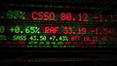 Inside Stock Market Tickers. Loopable. Green and Red. Stock Footage