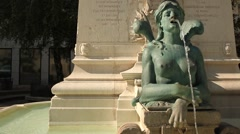 Andre-Marie Ampere Memorial in Lyon Stock Footage