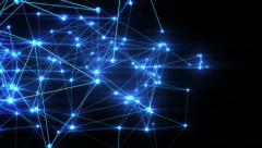 Growing network connections. Loopable. Blue, purple, silver. 3 in 1. - stock footage