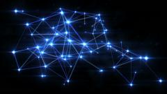 Network connections. Blue-Silver. Growing connections. 2 in 1. - stock footage