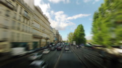 Driving through Paris, France. Sunny day. Time lapse.  Stock Footage