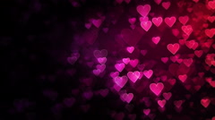 Heart Background. Multicolored. Loopable. 2 options with and without mask. Stock Footage