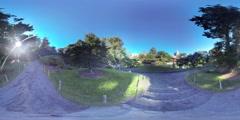 Brooklyn botanical garden 360 VR Stock Footage