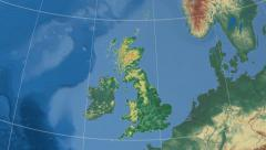 Renfrewshire - Scotland (United Kingdom) extruded. Set Stock Footage