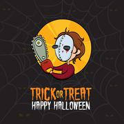 Halloween Trick or Treat Killer Costume Stock Illustration