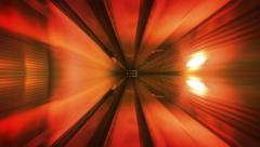 High speed ride through a colorful tunnel. Loopable. 4 colors. Cubic. - stock footage