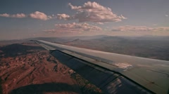 Aerial Window View Out Of Flying Airplane Over USA Stock Footage