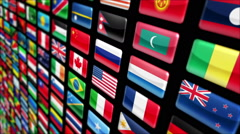 Colorful world flags, with Luma matte. Loopable. More colors in my portfolio. Stock Footage