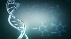 DNA with space for text. Loopable. 3 videos in 1 file. - stock footage