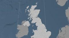 West Dunbartonshire - Scotland (United Kingdom) extruded. Set Stock Footage