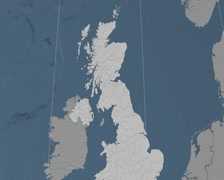 West Lothian - Scotland (United Kingdom) extruded. Set Stock Footage