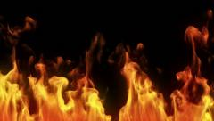 Stock Video Footage of Highly detailed flames. Alpha matte. Macro. Perfect to compose.