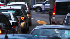 Heavy traffic in the city. More options in my portfolio. Stock Footage