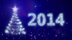New Year background with bright snow. Blue. Loopable from frame 391. Stock Footage