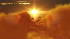 Sunset over clouds. From day to night. More options in my portfolio. - stock footage