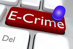 E-crime concept Stock Illustration