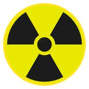Radioactive warning sign Stock Illustration