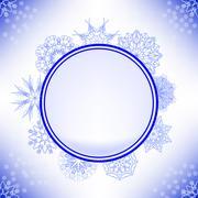 Stock Illustration of Winter Snow Label
