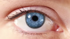 Human Eye. Blue. White and regular skin. 2 in 1. Each video is loopable. Stock Footage