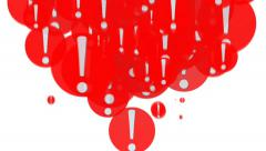 Red exclamation mark. A lot of exclamation marks Stock Footage