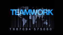 Barcode Education World Teamwork Concept Stock Footage