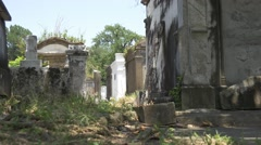 Groundview Lafayette cemetery Stock Footage