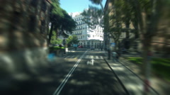 Car driving through a big city. Sunny day. Time-lapse. Stock Footage