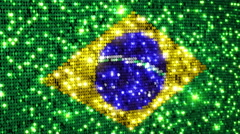 Brazilian flag. Sequins. Loopable from frame 300 to frame 599. Stock Footage