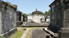 Tracking shot in Lafayette cemetery Stock Footage