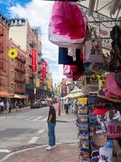 Souvenirs for sale at Little Italy in New York City Stock Photos
