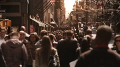 People walking in busy street of Manhattan. New York City. US. - stock footage