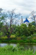 Cathedral of the Nativity (1222), UNESCO World Heritage Site, Suzdal - stock photo