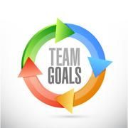 Stock Illustration of Team goals color cycle sign concept