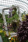 Stock Photo of Flower Dome at Gardens by the Bay in Singapore