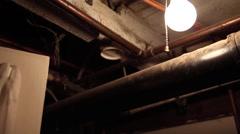 Basement light bulb Stock Footage