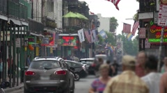 Bourbon Street French Quarter New Orleans Stock Footage