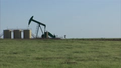 Pump Jack and Cows.mp4 Stock Footage