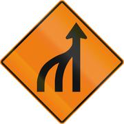 Stock Illustration of Left Lanes End in Canada