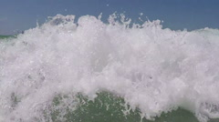 sea wave billows - stock footage