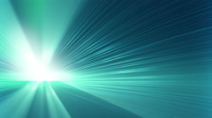 Blue shining rays loopable background 4k (4096x2304) Stock Footage