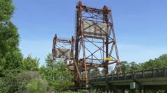 Honey Island Swamp drawbridge Stock Footage