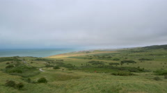 Countryside looking out to the English Channel - Calais France Stock Footage