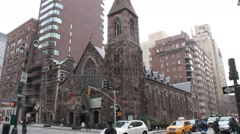 Church on the Corner of Madison and 36th Street Stock Footage
