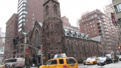 Church on Madison avenue NYC Stock Footage
