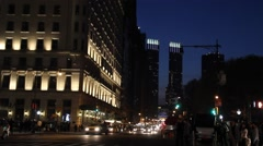 Central Park South at Dusk Stock Footage