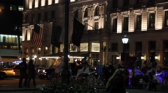 Plaza Hotel Night Stock Footage